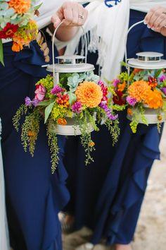 lantern bridesmaid bouquet, unique bridesmaid bouquet, lantern wedding decor, alternative bouquet from Nautical Maryland Shore wedding by Birds of a Feather photography