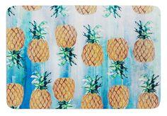 Pineapple Beach by Nikki Strange Bath Mat