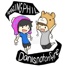 AmazingPhil and Danisnotonfire T-Shirt Design by =Zel-Duh on deviantART