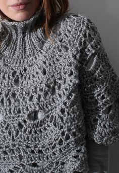 """... create your life!: Instructions for Poncho """"Lace"""" & Giveaway at Creatina"""