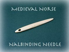 Medieval Norse Fossil Walrus Ivory Nalbinding Needle by Grizzly Mountain Arts