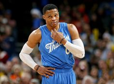 Oklahoma City's Russell Westbrook (0) reacts during the NBA game between the Oklahoma City Thunder and the Minnesota Timberwolves at the Chesapeake Energy Arena,  Sunday, Dec. 25, 2016. Photo by Sarah Phipps, The Oklahoman
