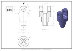 Solidworks Tutorial, Cad Drawing, Drawing Practice, 3d Modeling, Technical Drawing, Autocad, Geometry, Exercises, Dreams
