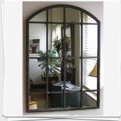eBay - large french inspired iron window pane wall mirror