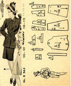1940s () Women's Suit  Wiener Frauenzeitung Nr 5 No 563a