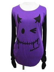 Devil Wink-chan Long Sleeve T-Shirt Purple. See more at http://www.cdjapan.co.jp/apparel/superlovers.html #harajuku #superlovers