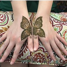 Simple henna pattern # butterfly