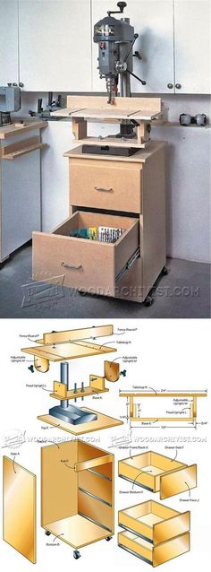 Drill Press Center Plans - Drill Press Tips, Jigs and Fixtures | WoodArchivist.com