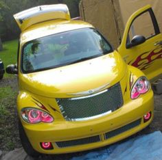 Mike Herron's 2006 PT Cruiser Route 66 Edition, Custom HALO Creations headlight and fog light set installation Pt Cruiser Accessories, Chrysler Pt Cruiser, Route 66, Plymouth, Halo, Vehicles, Awesome, Cars, Car