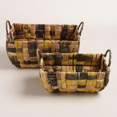 One of my favorite discoveries at WorldMarket.com: Brown Lily Rectangular Basket