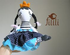 Little Princess Doll Handmade Doll Made With Love by Fililishop, £25.00