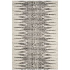 Featuring an abstract geometric design, this eye-catching rug lends a touch of pattern to your living room or foyer.Features:...