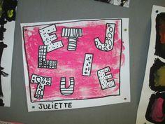 monotype+empreintes de lettres à décorer