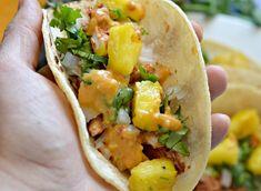 Tacos al pastor recipe marinade salsa pork Tacos Pastor, Tacos Al Pastor Recipe, Taquitos Al Pastor, Entree Recipes, Pork Recipes, Dinner Recipes, Cooking Recipes, Pate A Tacos, Salads