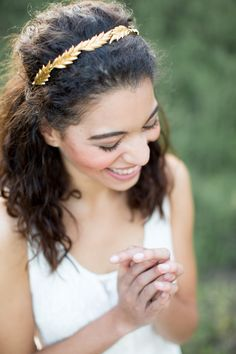 Amber Leaf Crown From @acutedesigns. #wedding #bride #bridal #leaves