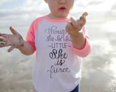 She is Fierce-Limited Edition Breast Cancer Awareness Baby Baseball Tee by The Printed Palette