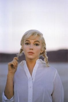 Marilyn Monroe from The Misfits 1961. She was 35 in this -- a year before she died.