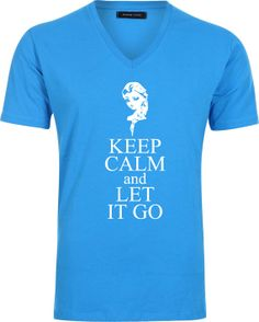 Iron on Frozen keep calm and let it go T-shirt design Disney's Frozen  Disney Princesses  Princess Anna  Elsa  shirt  Chalk  Girl  Printable...
