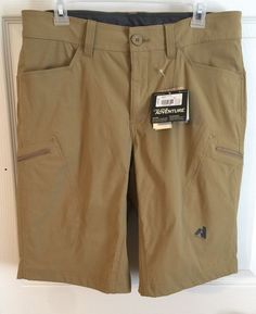 Eddie Bauer Mens Shorts 34 Cargo First Ascent Nylon Khaki Tan Travel Pro Guide  | eBay