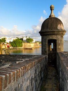 Sentry post on Old City Wall, San Juan, Puerto Rico; photo by George Oze