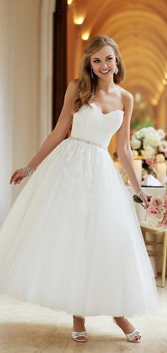 stella york vintage 50's ball gown wedding dresses style 6177