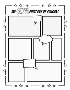 printable blank comic strip template for kids - 1000 images about comics for kids on pinterest comic