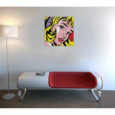 LICHTENSTEIN - Girl with Hair Ribbon, 1965 60x61 cm #artprints #interior #design #art #print #iloveart #followart #artist #fineart #artwit  Scopri Descrizione e Prezzo http://www.artopweb.com/autori/roy-lichtenstein/EC18416