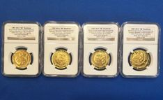 Gold Coin Set Brasher Doubloons Minted at 2014 Chicago ANA NGC 1 of only 4 Sets
