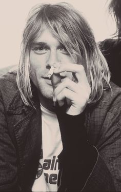 Kurt Cobain, London, UK. 1991 Photograph by AJ Barratt