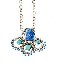 Amanda Sterett Blair Blue Apatite Turquoise Necklace at Elements Chicago