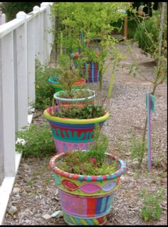 Saks on Pinterest Painted Flower Pots Painted Pots and