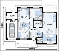 Проект классического дачного одноэтажного дома | DOM4M.com.ua