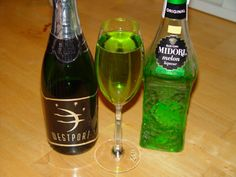 St. Patty's Drink - Midori & Champagne! Way better then that green beer :)