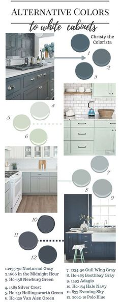The Best Benjamin Moore Paint Colors for Cabinets - Home Decoration - Interior Design Ideas Cabinet Paint Colors, Kitchen Paint Colors, Painting Kitchen Cabinets, Bathroom Cabinets, Colors For Kitchen Cabinets, Kitchen Cupboards, Bathroom Vanities, Grey Kitchens, Kitchen Grey