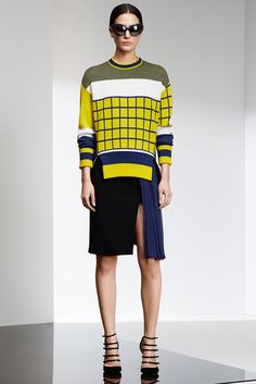 Prabal Gurung - Pre-Fall 2015. The block of colors in this outfit makes it simple, contemporary & perfect for all kind of occasion.