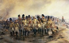 'Steady the Drums and Fifes' Regiment at the Battle of Albuera on May 1811 in the Peninsular War: picture by Lady Butler Fine Art Prints, Framed Prints, Canvas Prints, Museum Collection, Military Art, Poster Size Prints, Drums, Online Printing, Wall Art