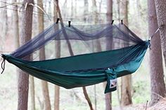 Adventure Gear Outfitter Backpacking Hammock with Mosquito Net and Free Tree Straps. Ultralight And Strong Ripstop Nylon Single Camping Hammock. *** See this great image : Camping Furniture Best Camping Hammock, Backpacking Hammock, Backyard Hammock, Outdoor Hammock, Hammock Swing, Backpacking Gear, Camping And Hiking, Hiking Gear, Camping Gear
