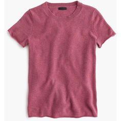 J.Crew Collection Cashmere Short-Sleeve T-Shirt ($140) ❤ liked on Polyvore featuring tops, t-shirts, tissue tee, j crew tops, short sleeve t shirts, short sleeve tee and cashmere top