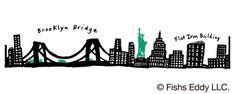 212 NEW YORK SKYLINE (212ニューヨークスカイライン)    ニューヨークを代表する建物を描いたデザインに、コラボレーション限定デザインとして、自由の女神とブルックリン橋を渡る車を加えました。【ミスタードーナツ】『FISHS EDDY(フィッシュズエディ) オリジナルマグ』と『FISHS EDDY オリジナルプレート』を発売|ダスキンのプレスリリース