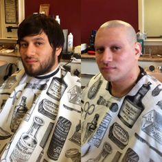 Bald Men Style, Beard Haircut, Bald Fade, Hair Transformation, Cute Gay, Short Hair Cuts, Shaving, Men Casual, Mens Fashion