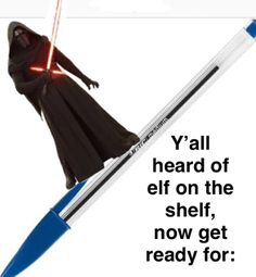ben on a pen or kylo ren on a pen Stupid Memes, Dankest Memes, Funny Memes, Really Funny, The Funny, Prequel Memes, Elf On The Self, Lol, Star Wars Humor