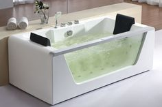 chinese remakes and ugly designs | EAGO AM196 6' Clear Rectangular Whirlpool Bath Tub for Two  with Fixtures