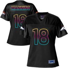 Pro Line Women's Denver Broncos Peyton Manning Fashion Jersey - Black