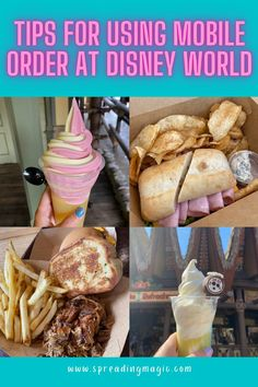Disney is offering guests the ability to mobile order both quick service meals and even to-go meals from select table service restaurants at the Walt Disney World Resort. We highly recommend using the Disney mobile order feature in your My Disney Experience app so we are sharing 8 tips for using the Disney mobile order service! #mobileorder #Disney #DisneyWorld #DisneyVacation #MyDisneyExperience Best Disney World Restaurants, Disney World Hotels, Disney World Food, Walt Disney World Vacations, Disney World Tips And Tricks, Disney Tips, Disney Rewards Card, Be Our Guest Disney