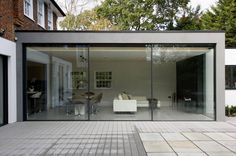 large sliding glass doors to rear extension london