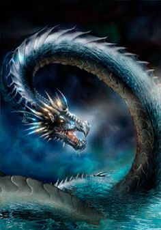Fantasy art - Page 77 - Dragons Visit… Water Dragon, Sea Dragon, Dragon Art, Blue Dragon, Magical Creatures, Fantasy Creatures, Fantasy Images, Fantasy Art, Art Images