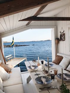 House By The Sea, Beach Shack, Cozy Cottage, House Goals, Fresco, Villa, House Design, Decoration, Exterior