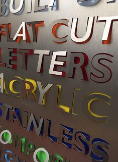 Flat cut Letters