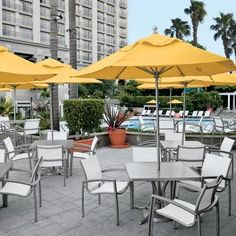 South Beach relaxed sling collection of outdoor patio furniture by Tropitone. Available from Rich's for the Home http://www.richshome.com/