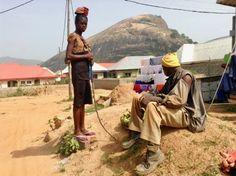 Girl selling green bananas in Ushafa Village, Abuja, Nigeria, #JujuFilms